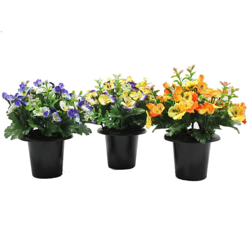 CEMETERY POT PANSY 4 ASSORTED