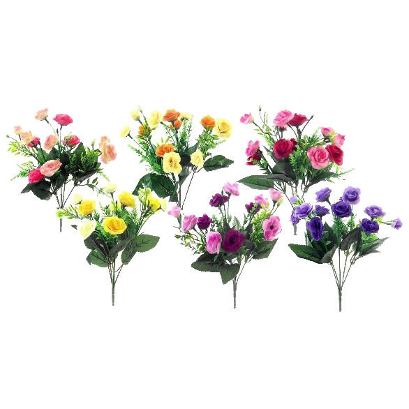 ROSE AND GRASS BUSH 31CM ASSORTED EACH