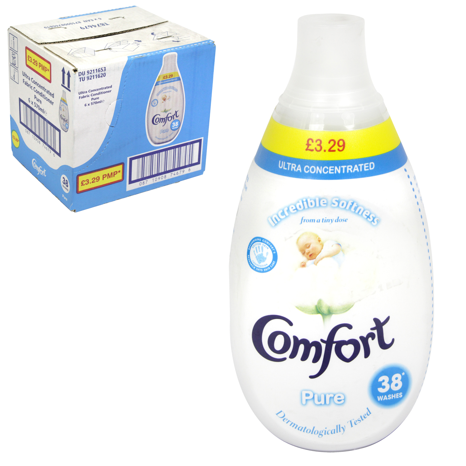 COMFORT INTENSE ULTRA CONCENTRATE 38 WASH PURE PM ?3.29 X6
