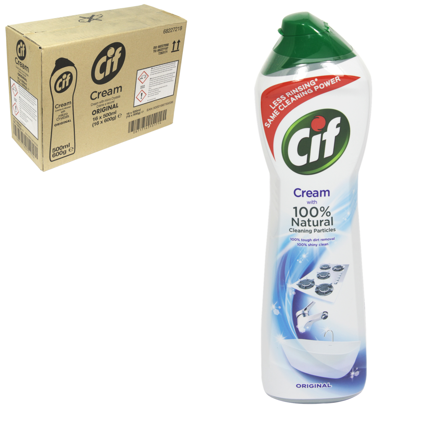 CIF CREAM 500ML ORIGINAL WHITE [UK] X8