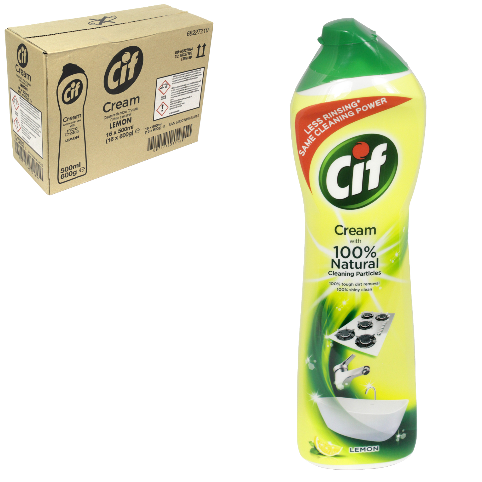 CIF CREAM 500ML LEMON FRESH [UK] X8