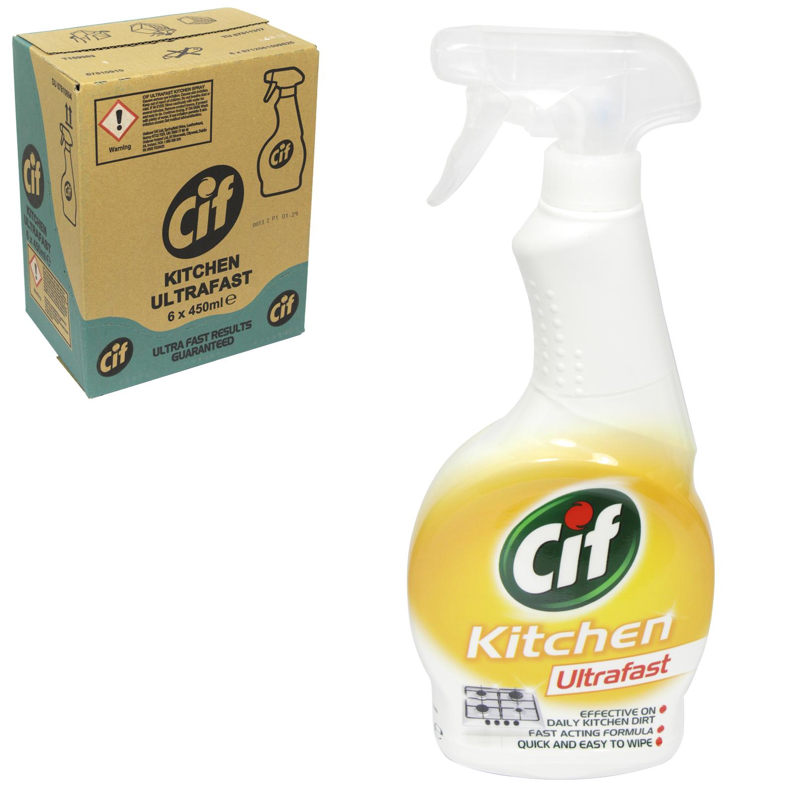 CIF ULTRAFAST 450ML PM ?1 KITCHEN X6