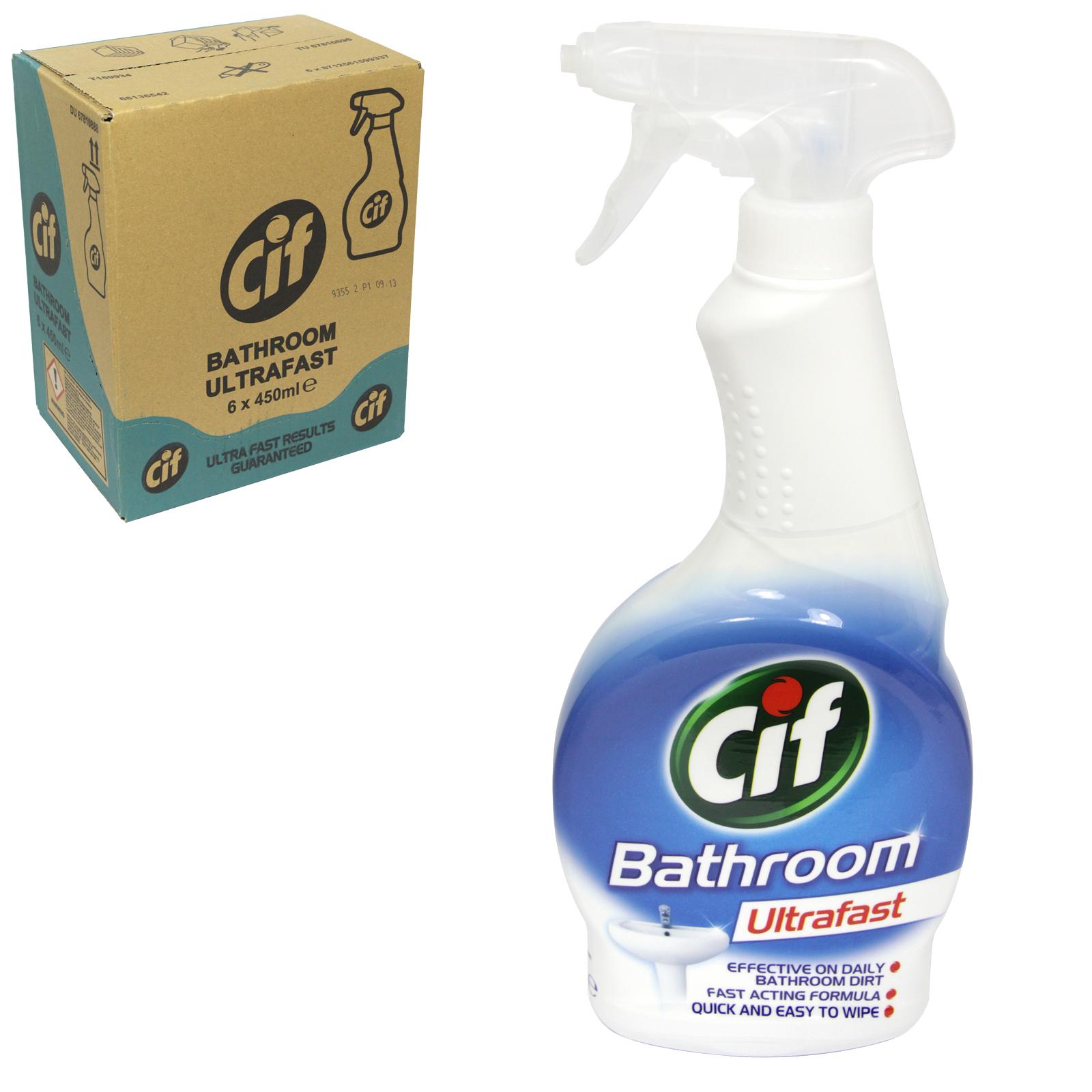 CIF ULTRAFAST 450ML BATHROOM SPRAY X6