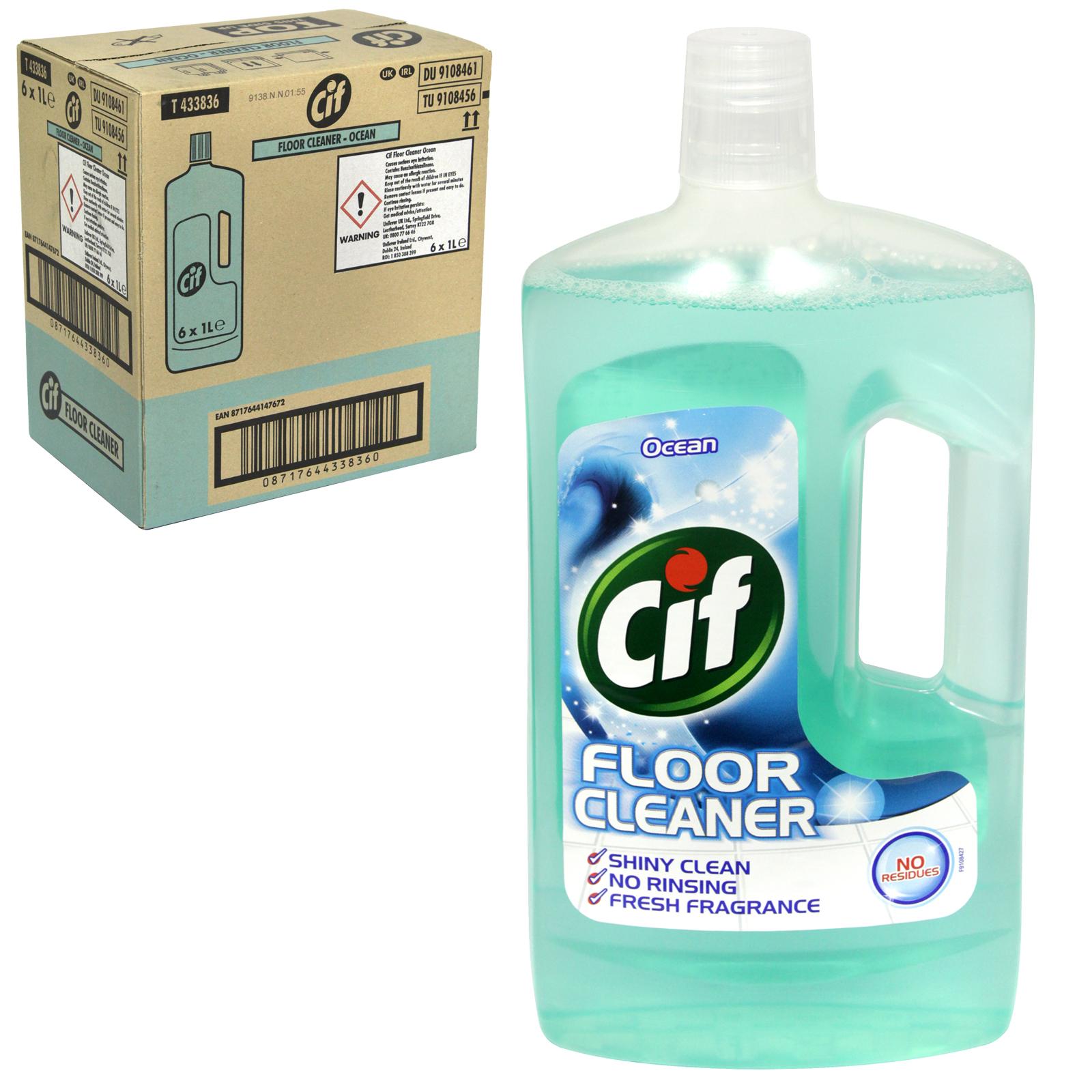 CIF FLOOR CLEANER 1L OCEAN X6