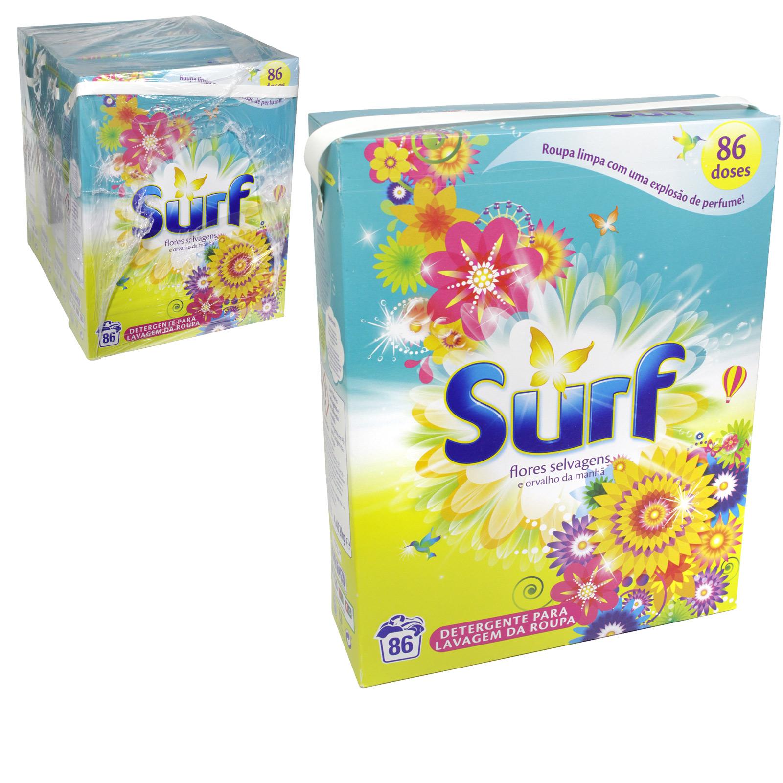 SURF 86 WASH 4.5KG POWDER WILD FLOWERS BLUE X4
