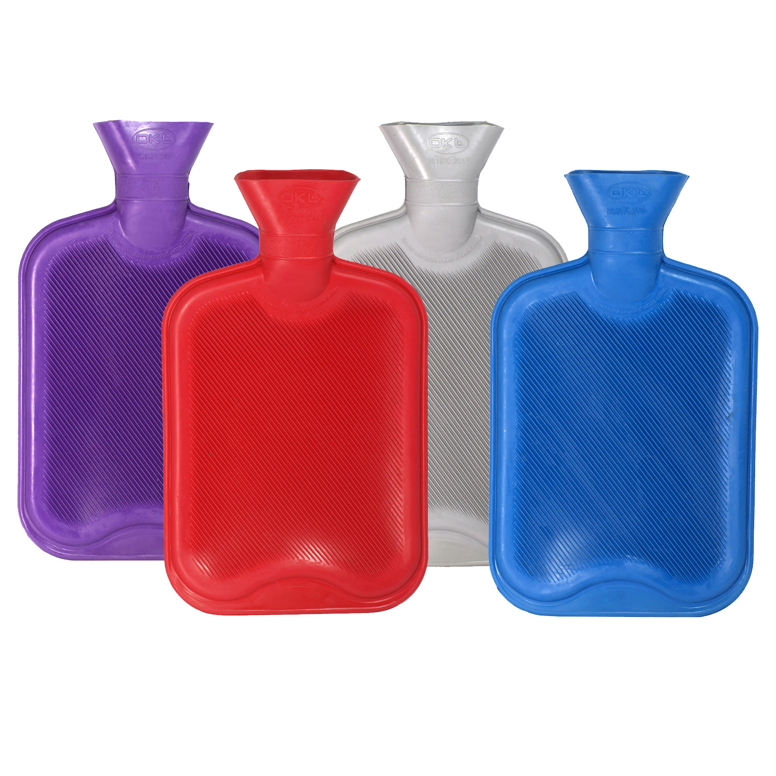 HOT WATER BOTTLES 2L ASS COLS RED/BLUE/GREEN