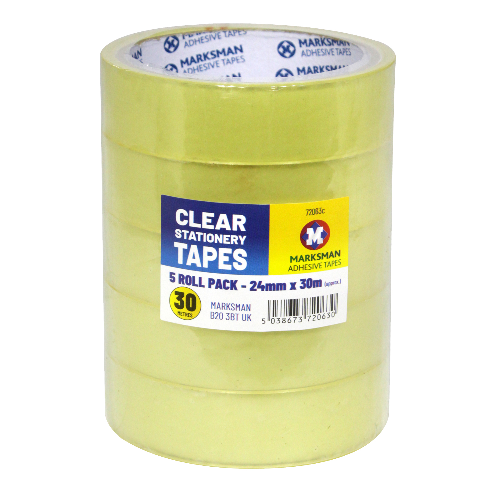CLEAR STATIONERY TAPE 5X24MMX30M