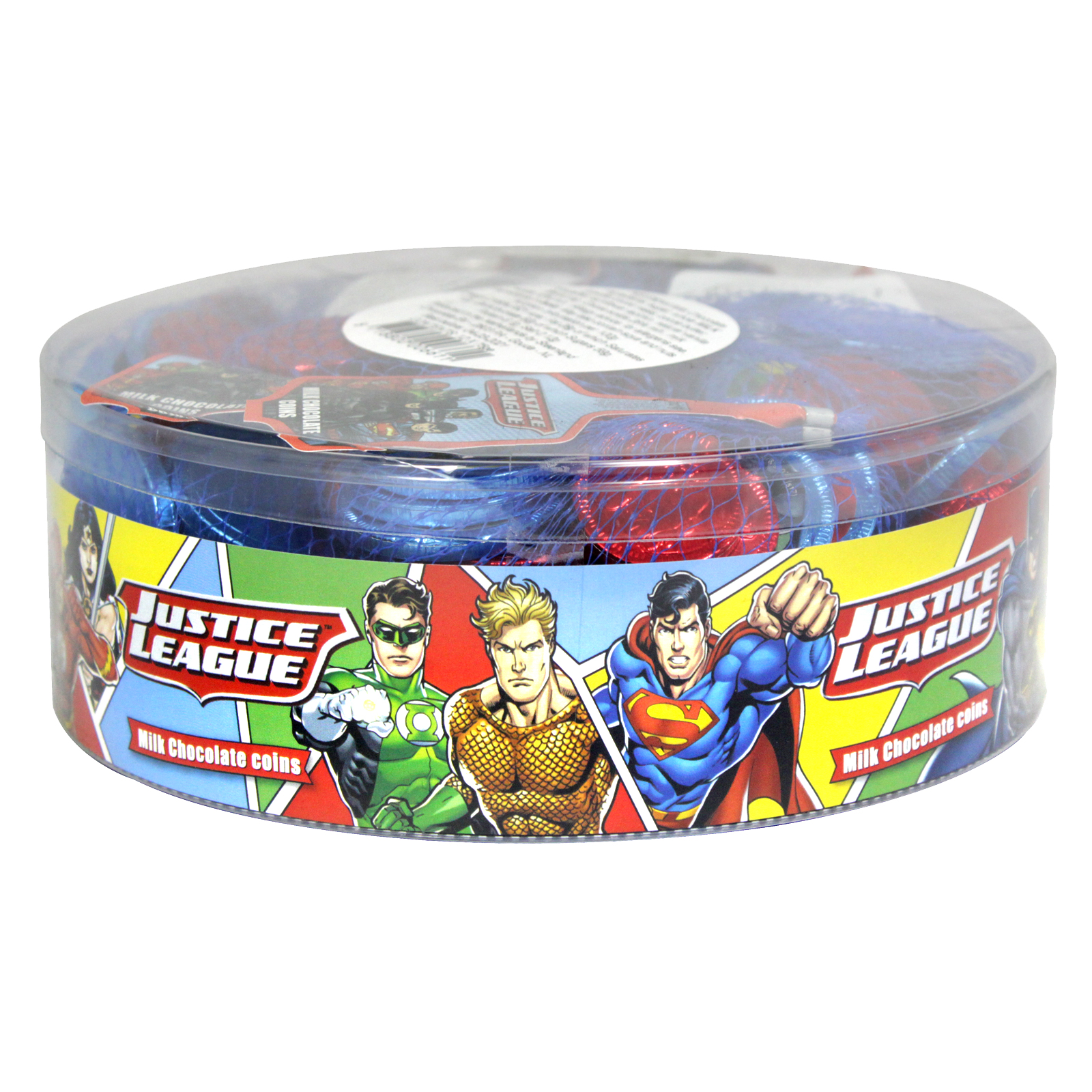 JUSTICE LEAGUE MILK CHOCOLATE COINS 75GM X20