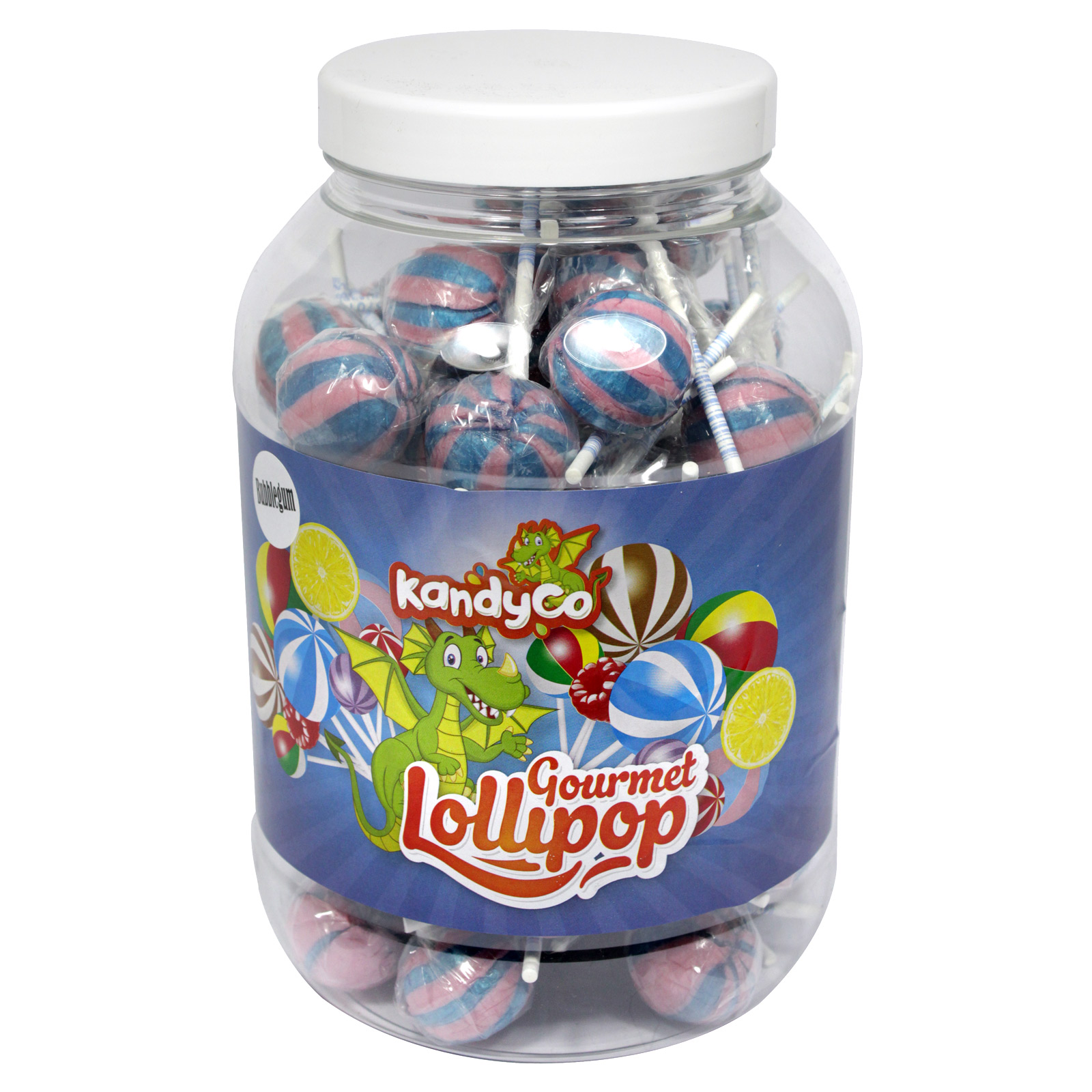KANDYCO GOURMET LOLLIES BUBBLE GUM X 70 LOLLIES