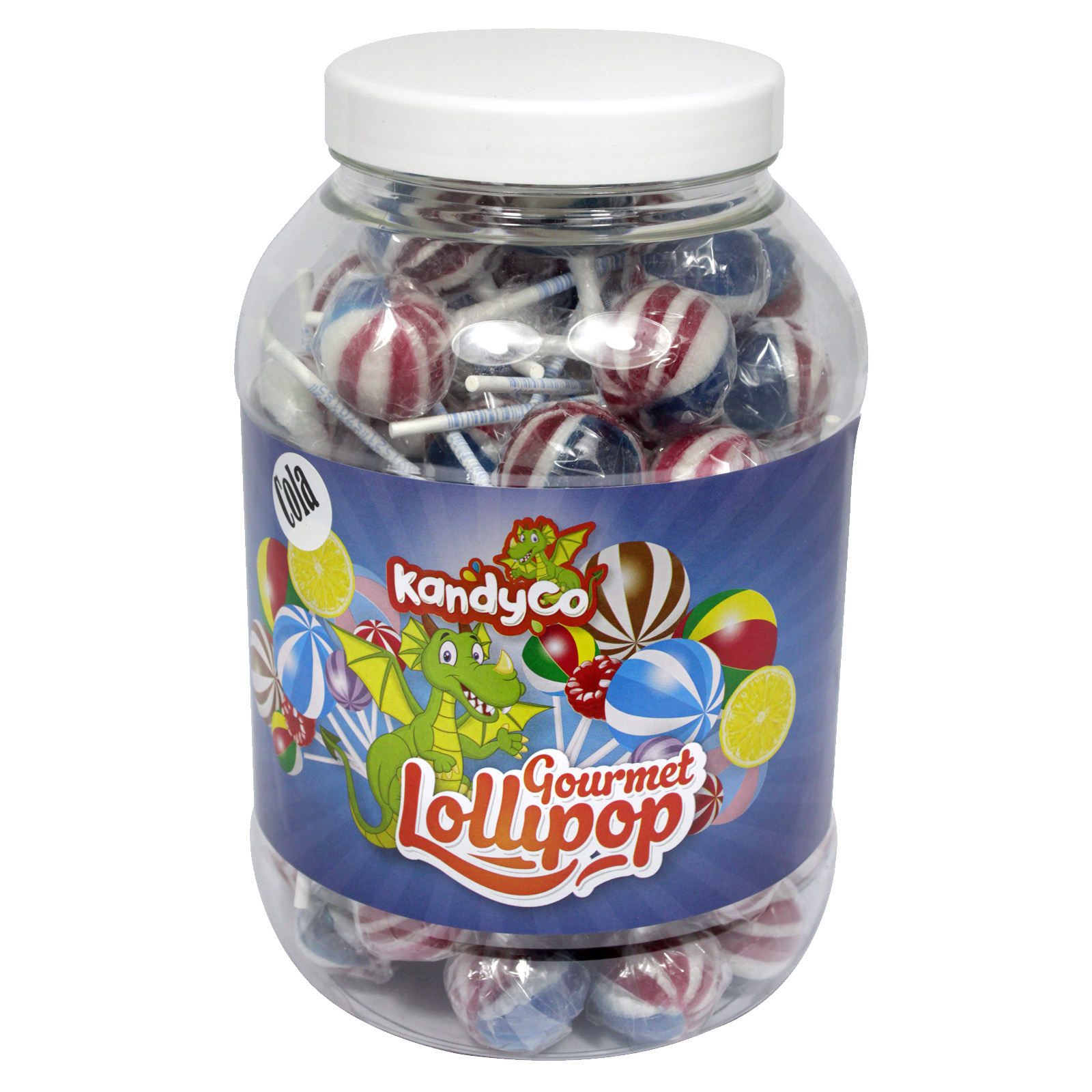 KANDYCO GOURMET LOLLIES  AMERICAN COLA X 70 LOLLIES