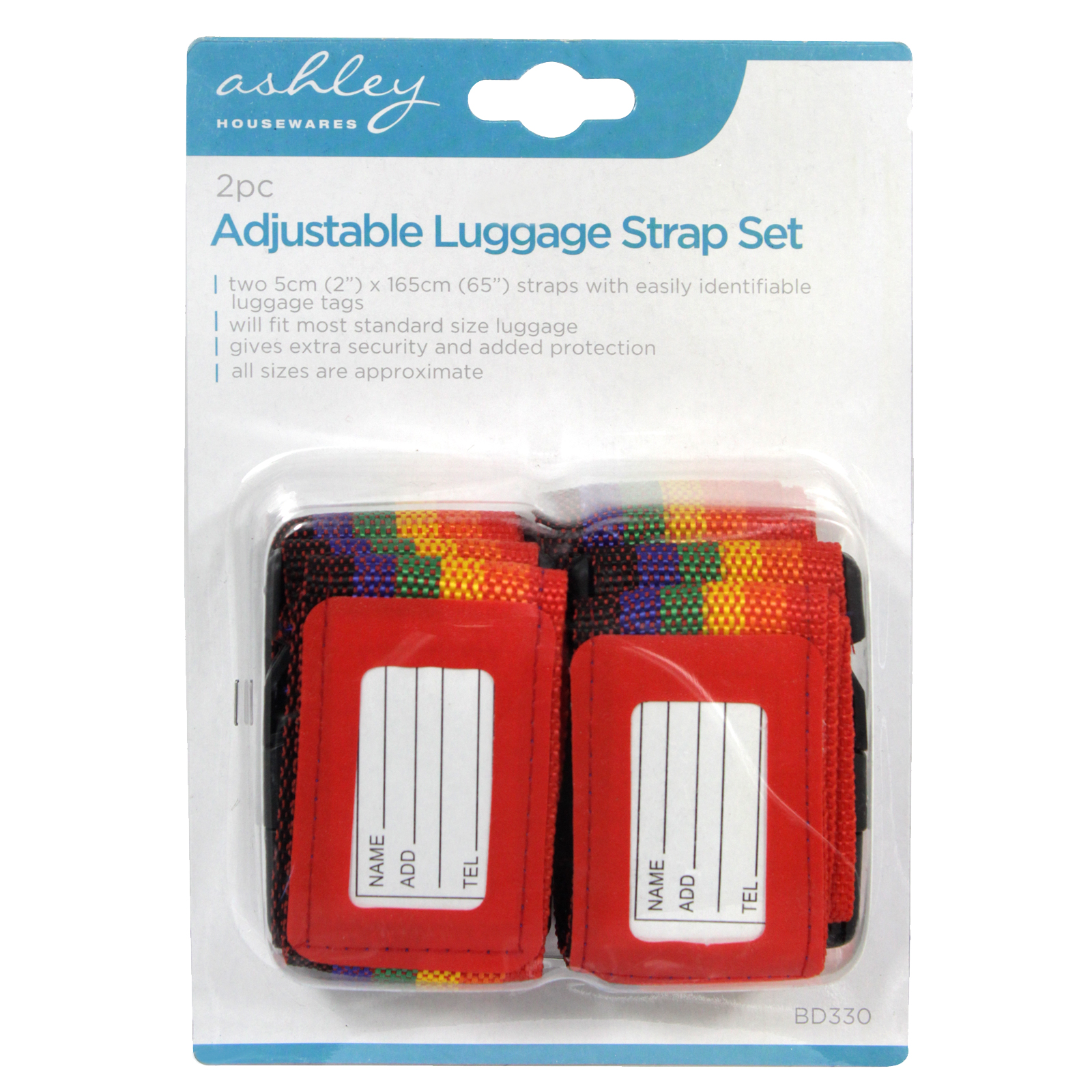 BLACKSPUR 2PC ADJUST LUGGAGE STRAPS
