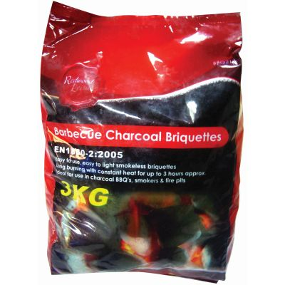 REDWOOD BBQ CHARCOAL BRIQUETTES 3KG