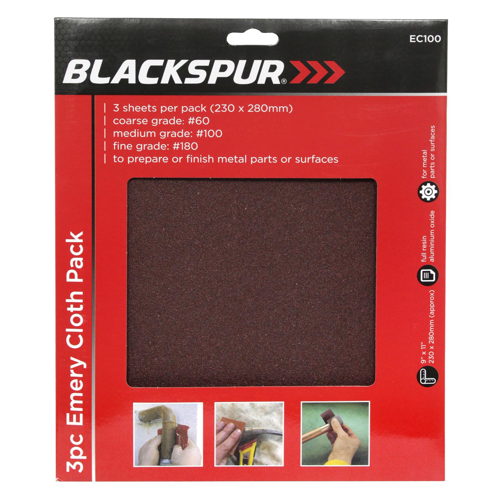 BLACKSPUR 3PC EMERY CLOTH 230X280MM