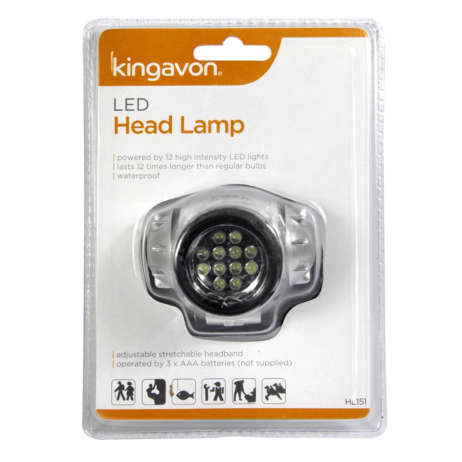 KINGAVON 12 LED HEAD LAMP