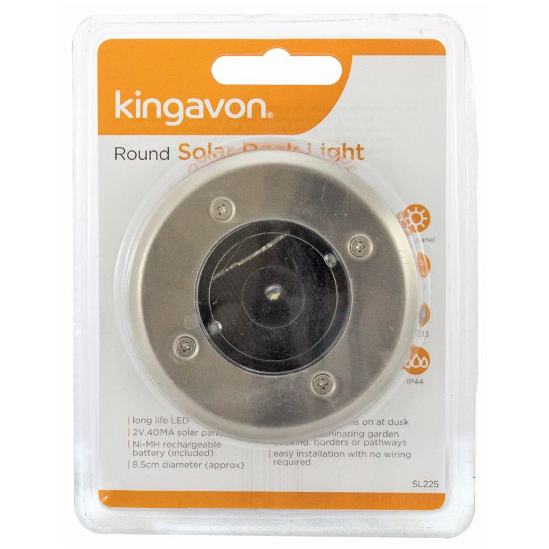 KINGAVON ROUND SOLAR DECK LIGHT X24