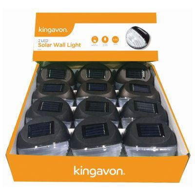 KINGAVON 2 LED SOLAR WALL LIGHT X12