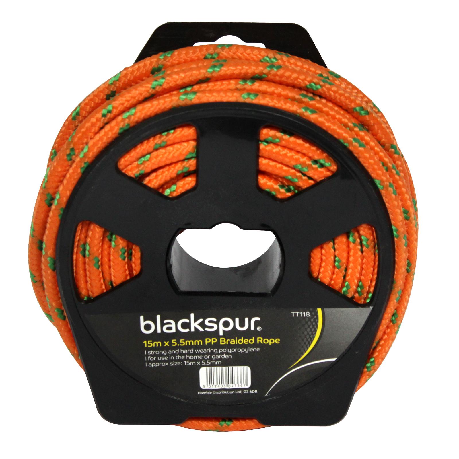 BLACKSPUR PP BRAIDED ROPE+REEL 15MX5.5