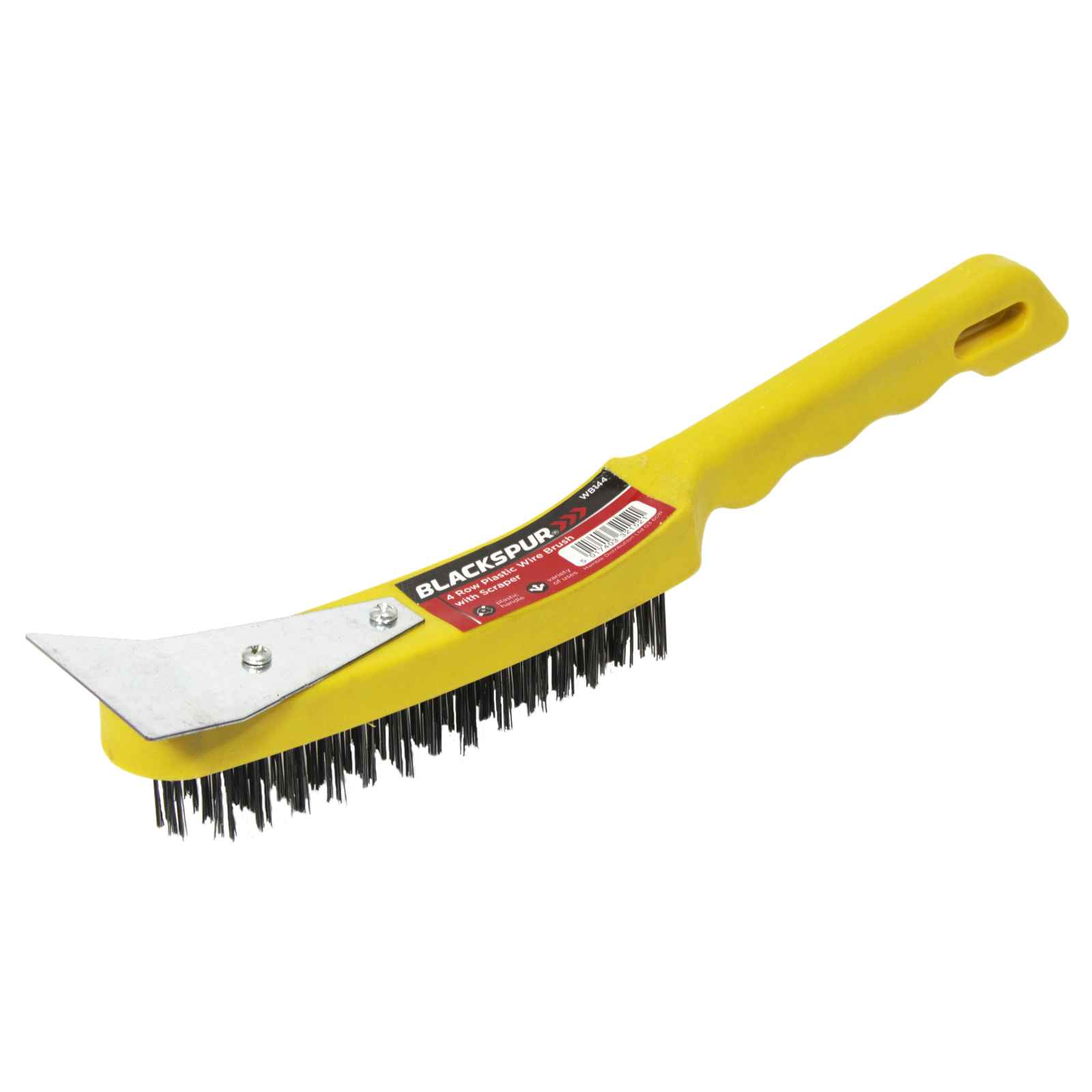 BLACKSPUR 4 ROW WIRE BRUSH+SCRAPER
