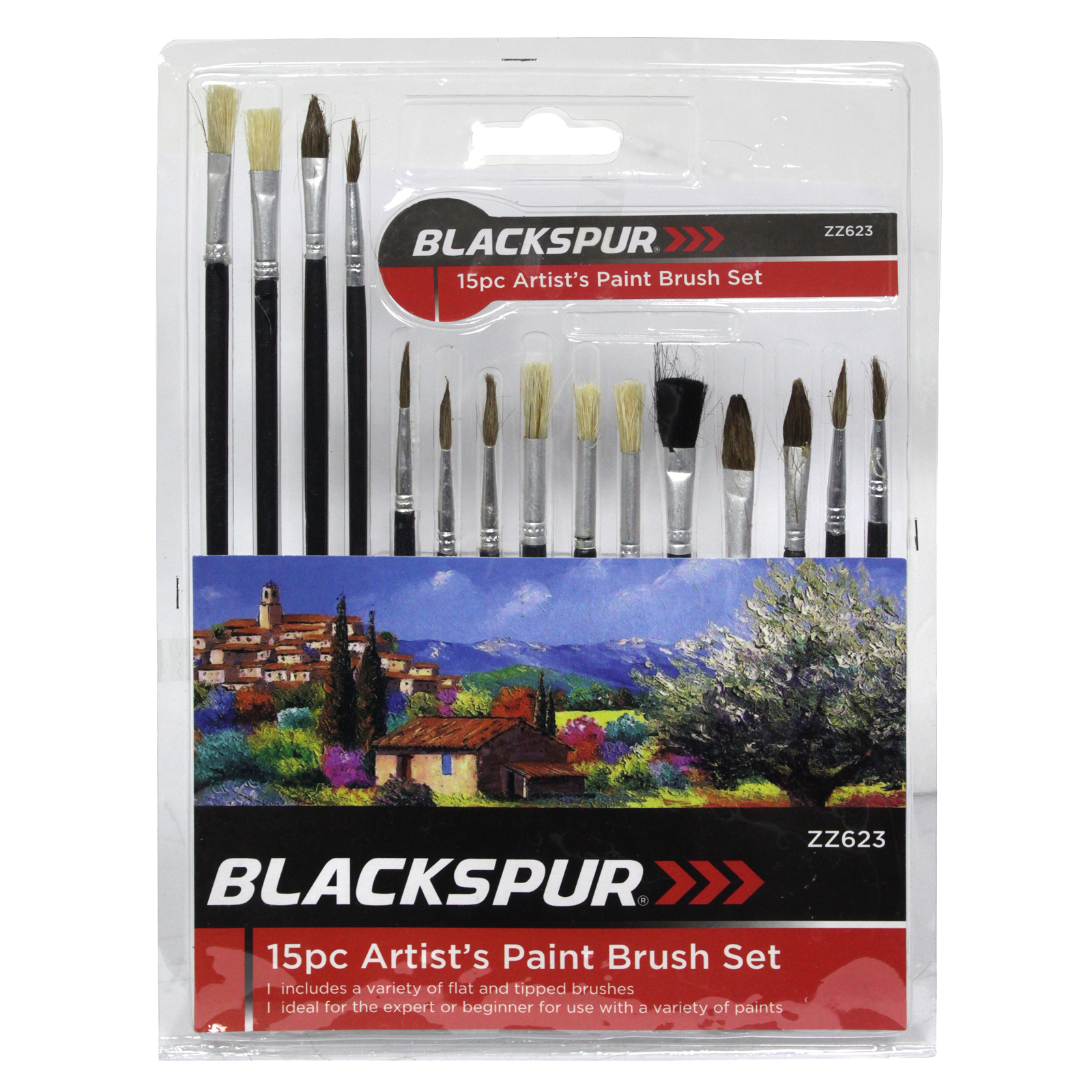 BLACKSPUR 15 PIECE ARTISTS PAINT BRUSH