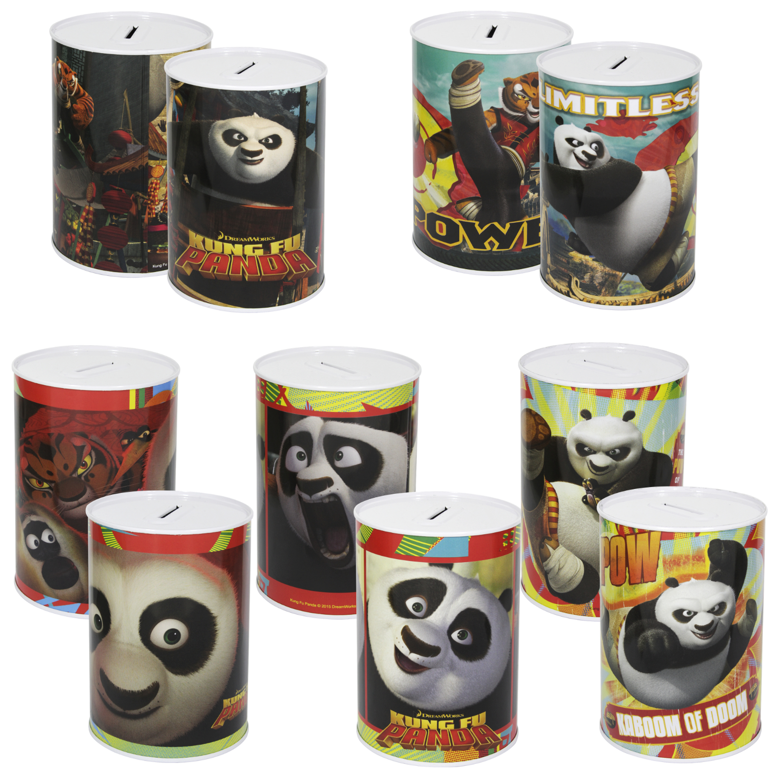 MONEY TIN 100X150MM KUNG FU PANDA