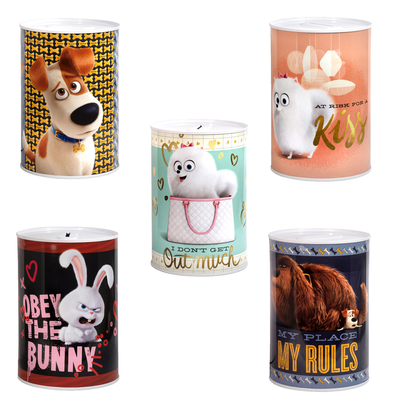 MONEY TIN 100X150MM SECRET LIFE PETS