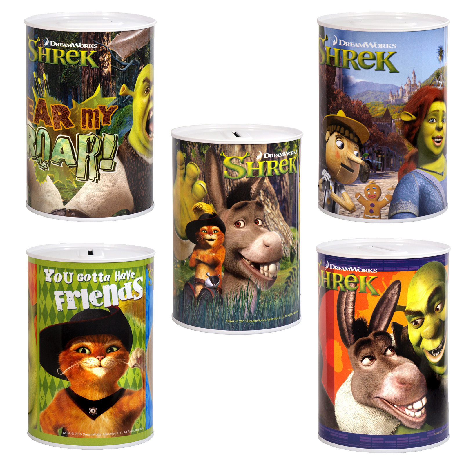 MONEY TIN 100X150MM SHREK