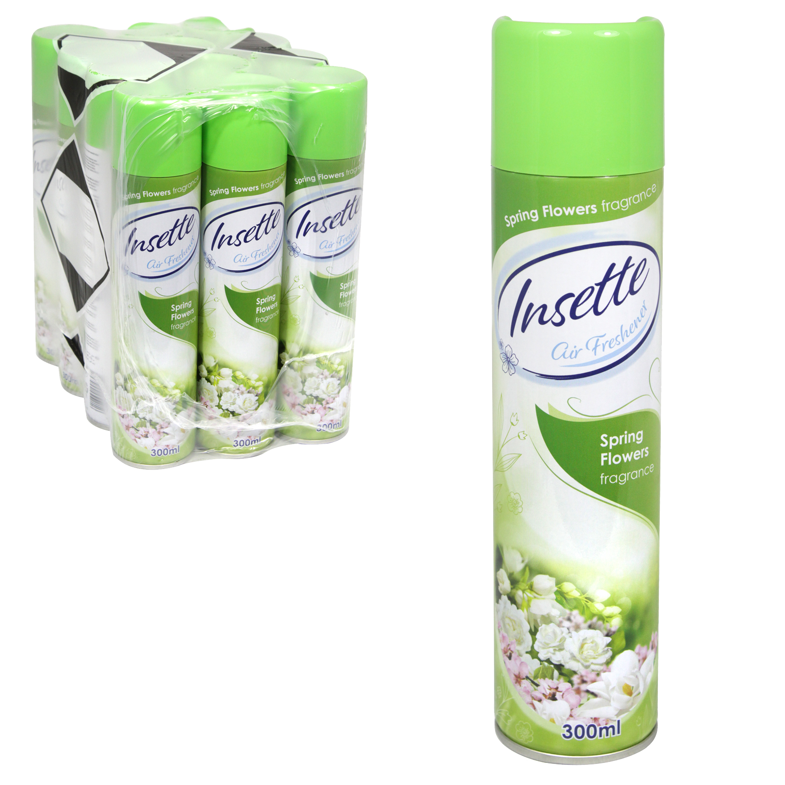INSETTE AIRFRESHENER 350ML SPRING FLOWERS X12
