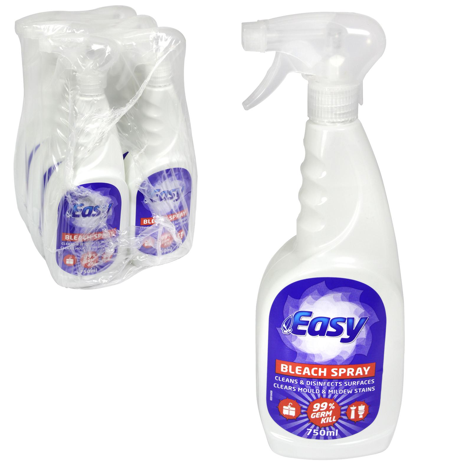 EASY 750ML TRIGGER BLEACH SPRAY X6