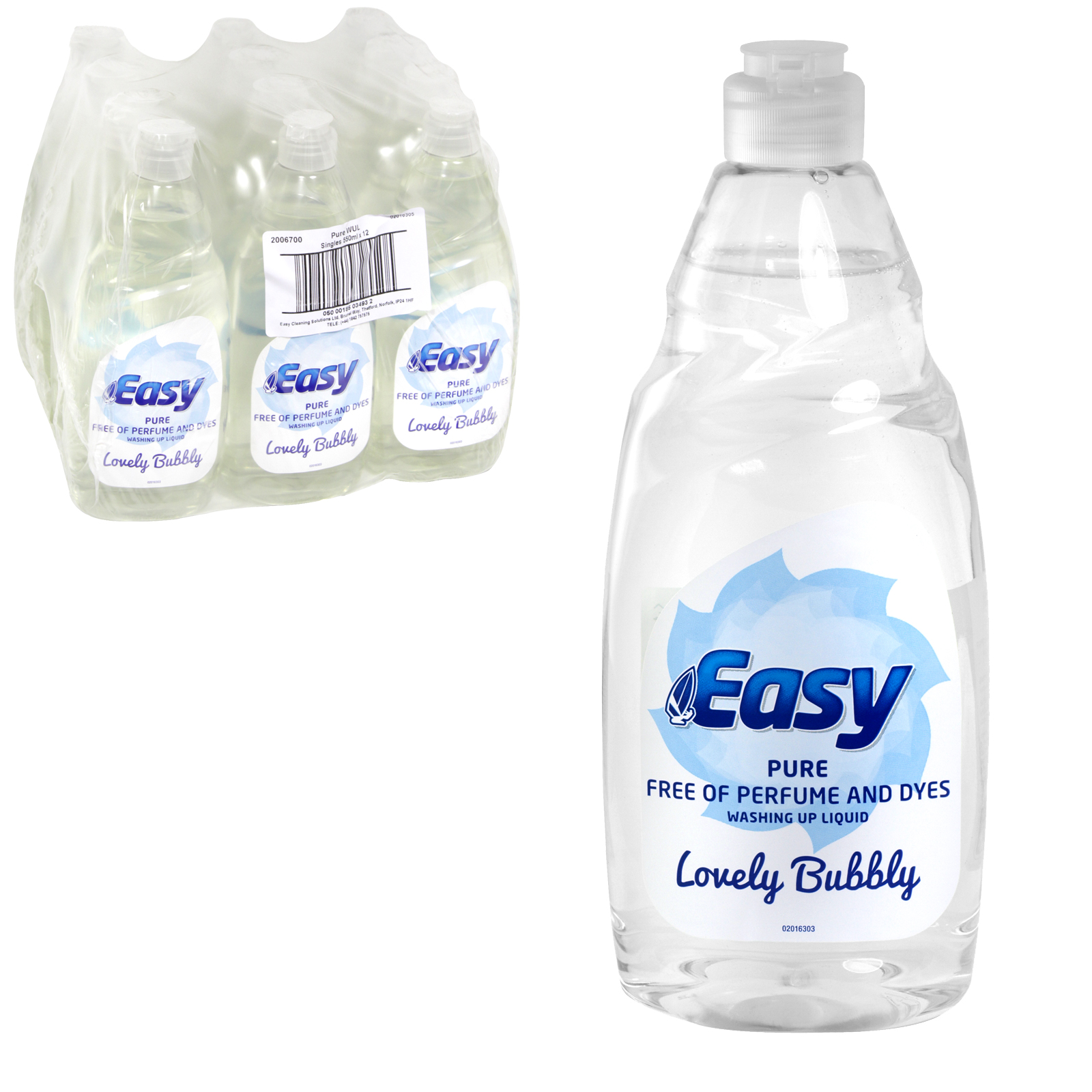 EASY WASH UP 550ML PURE X12
