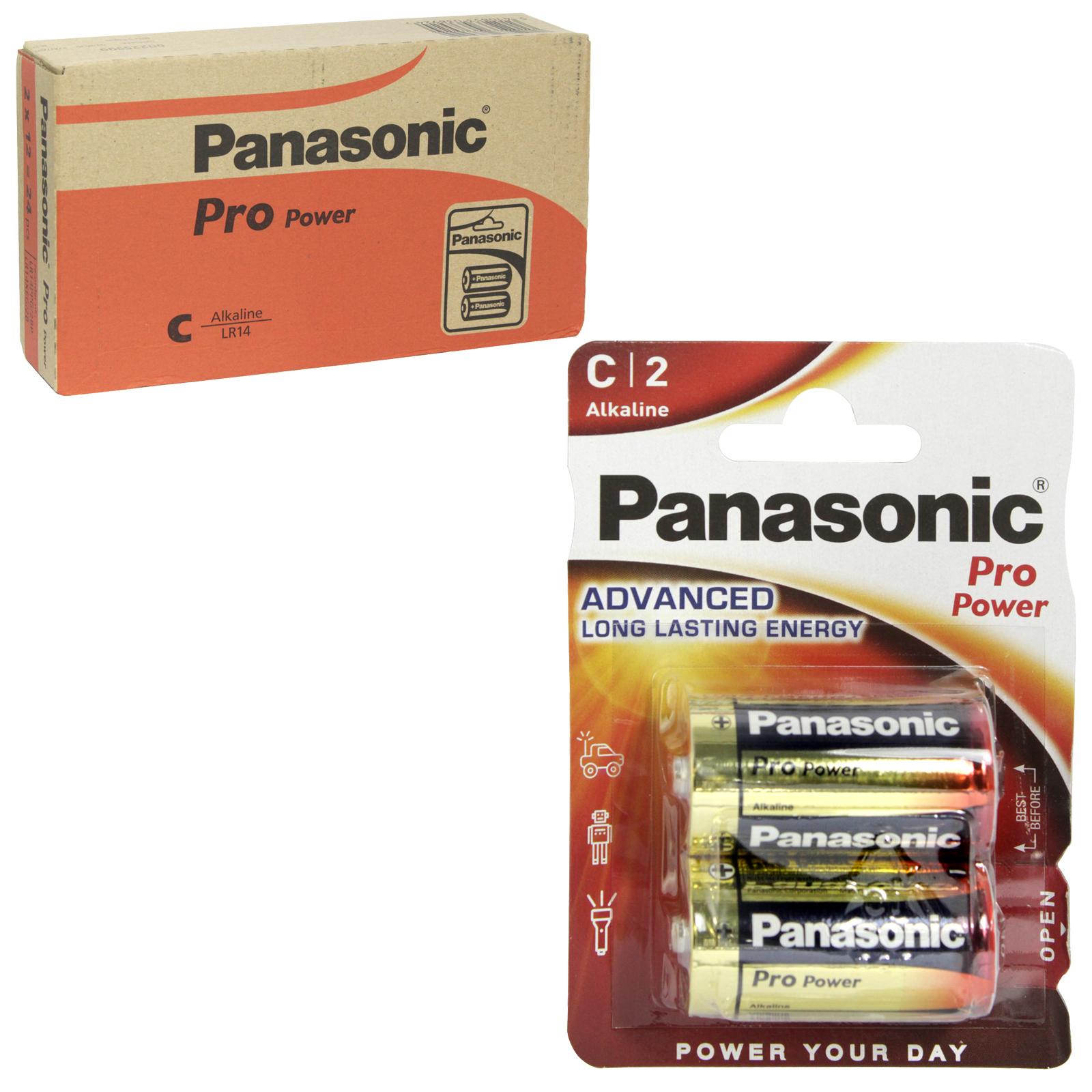 PANASONIC BATTERIES PRO POWER LR14 2PK C X12