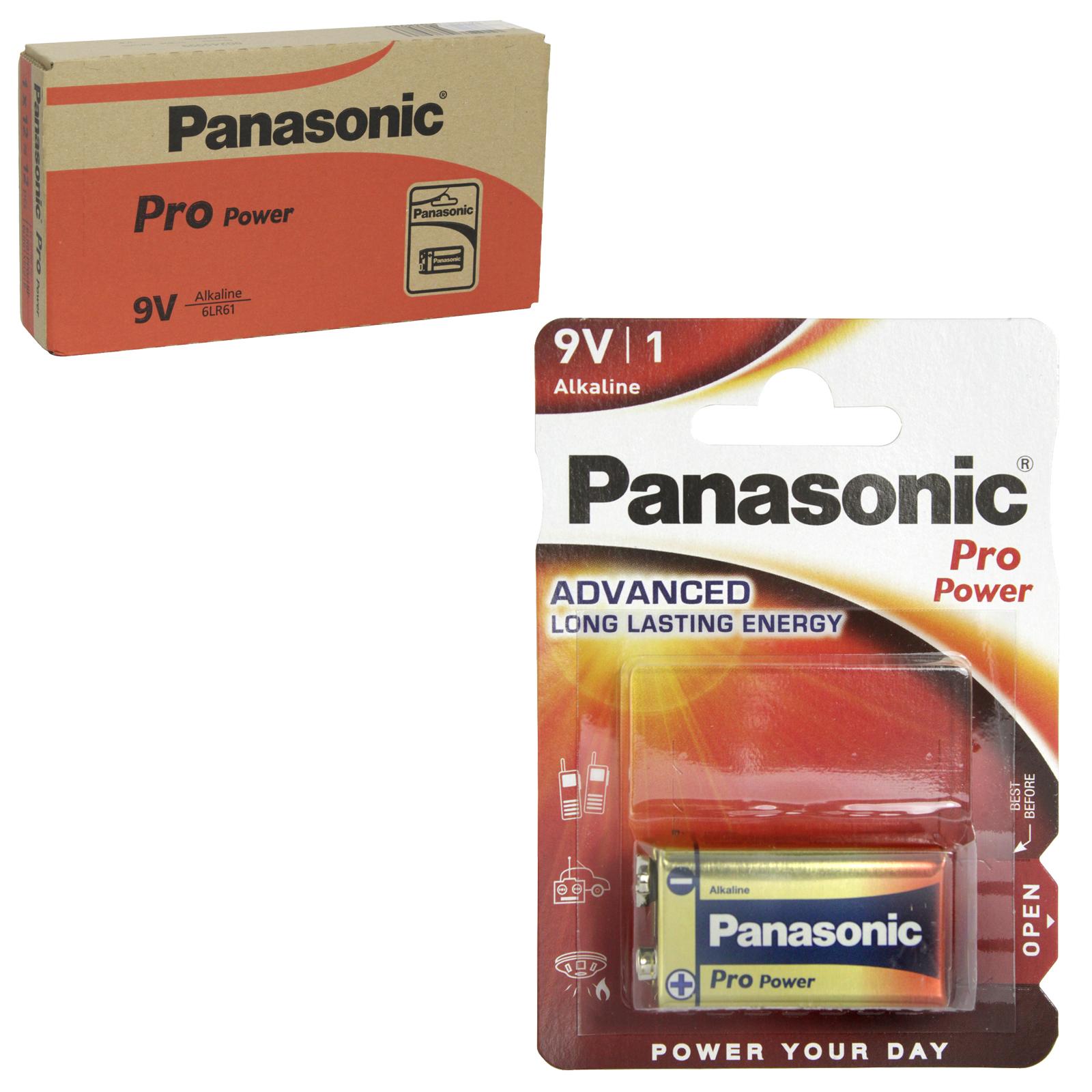 PANASONIC BATTERIES PRO POWER 6LR61 9V X12