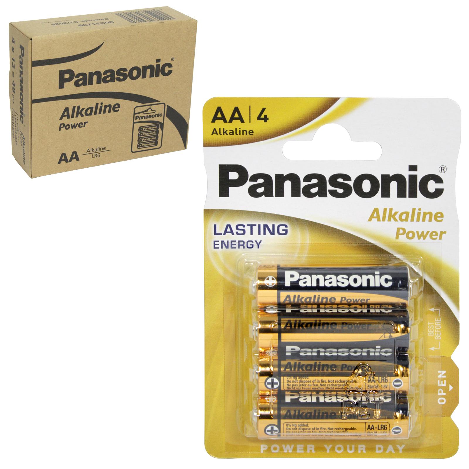PANASONIC BATTERIES ALKALINE POWER LR6 4PK AA X12