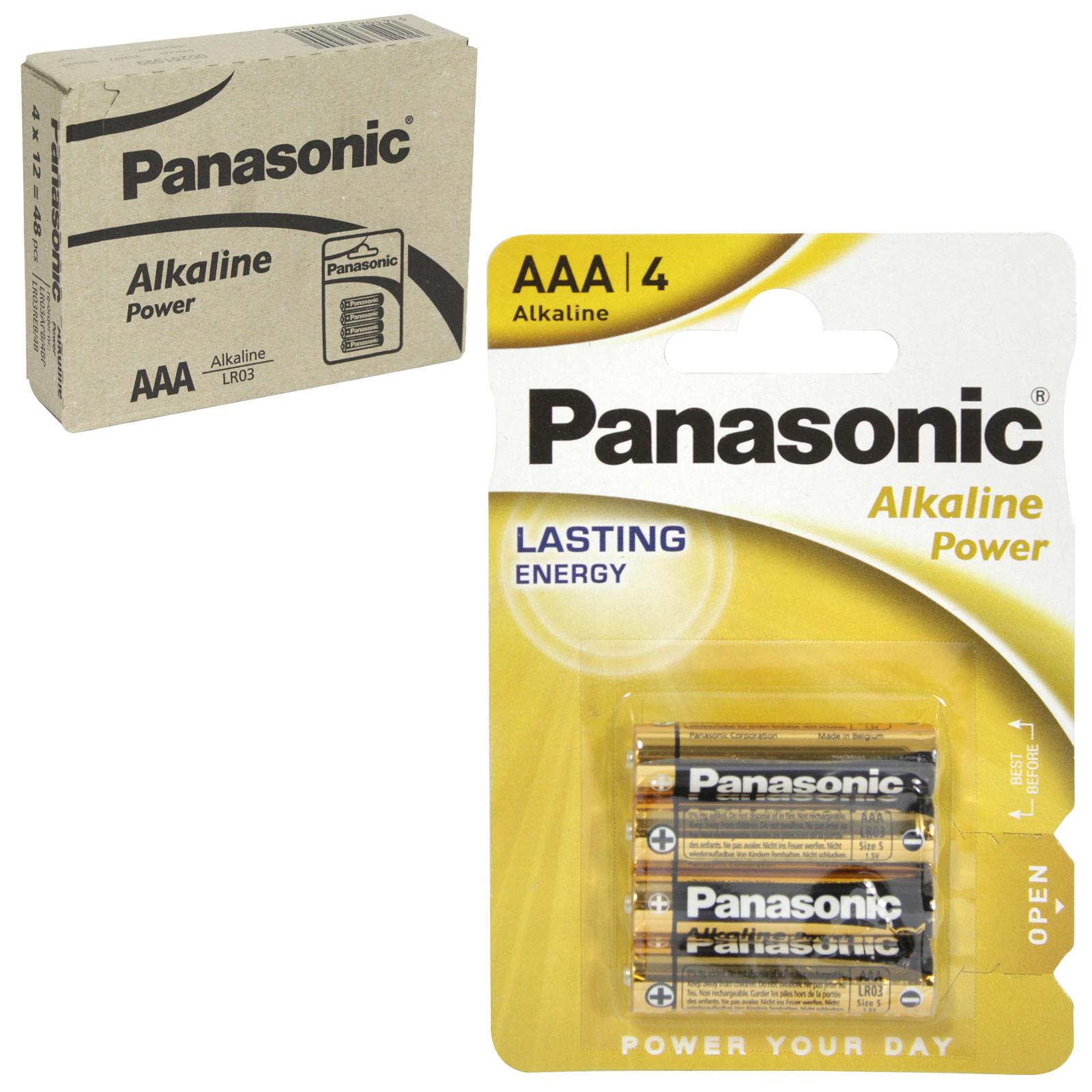 PANASONIC BATTERIES ALKALINE POWER LR03 4PKAAA X12