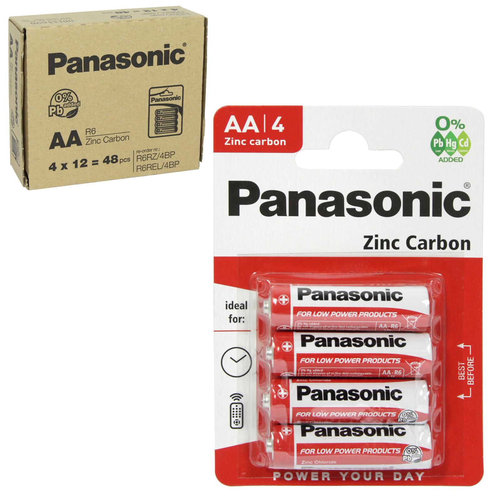 PANASONIC BATTERIES ZINC R6RZ 4PK (AA) X12