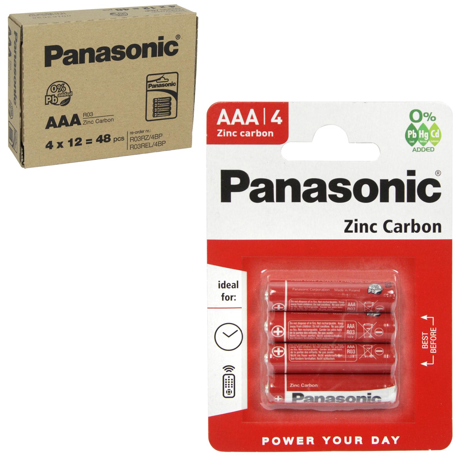 PANASONIC BATTERIES ZINC R03RZ 4PK (AAA) X12