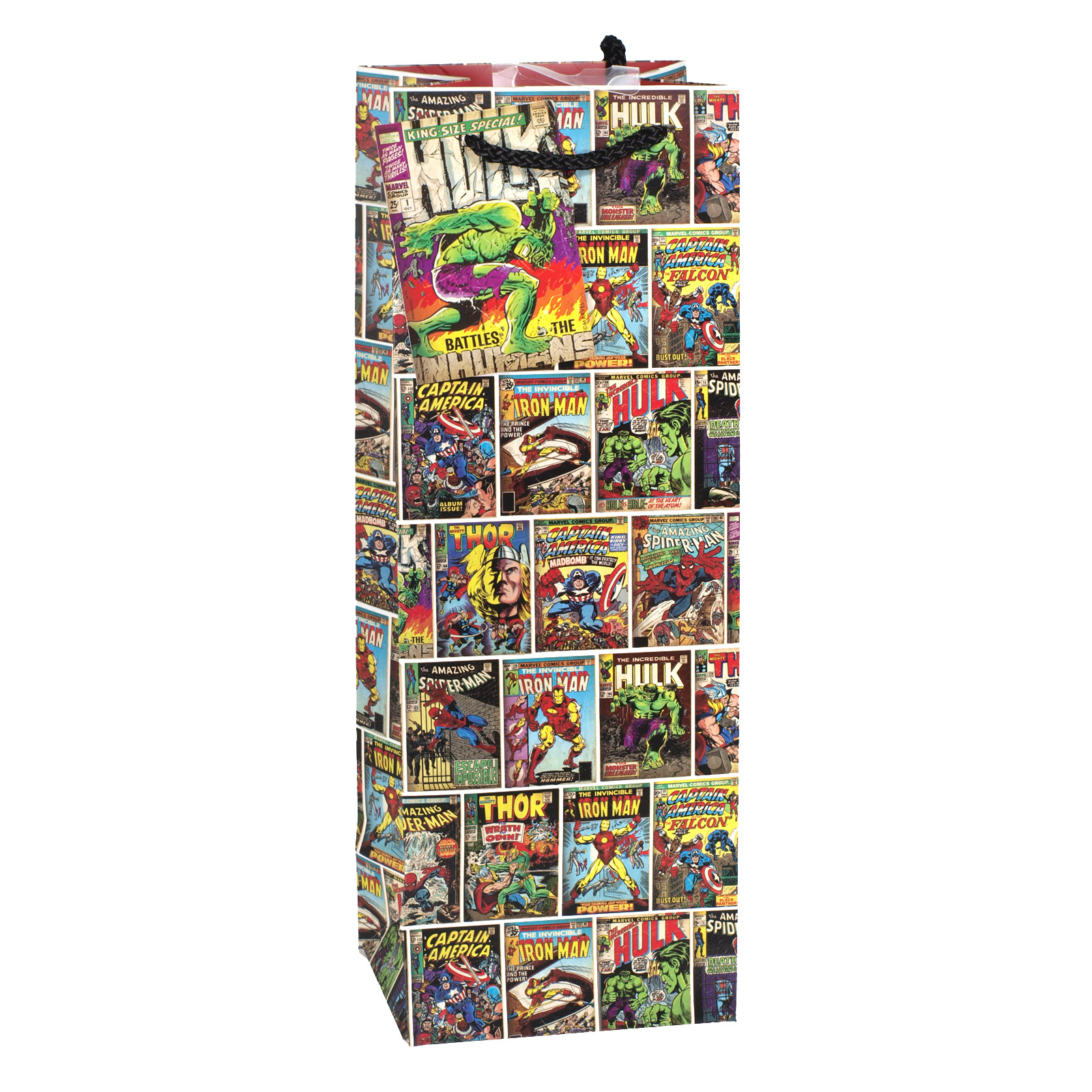 GIFT BAG BOTTLE MARVEL COMICS X6