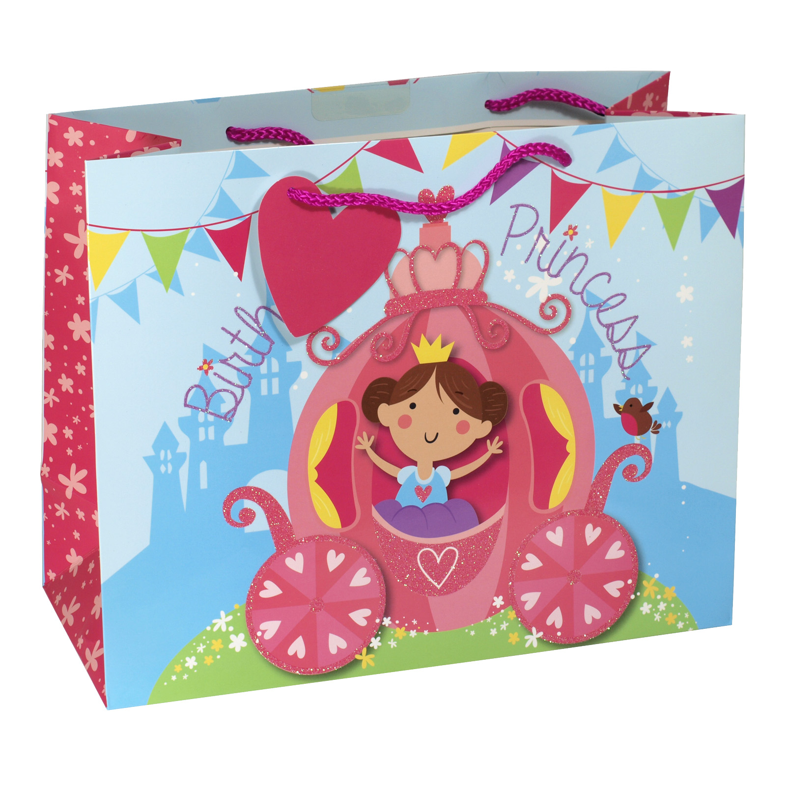 GIFT BAG LARGE PRINCESS CARRIAGE X6