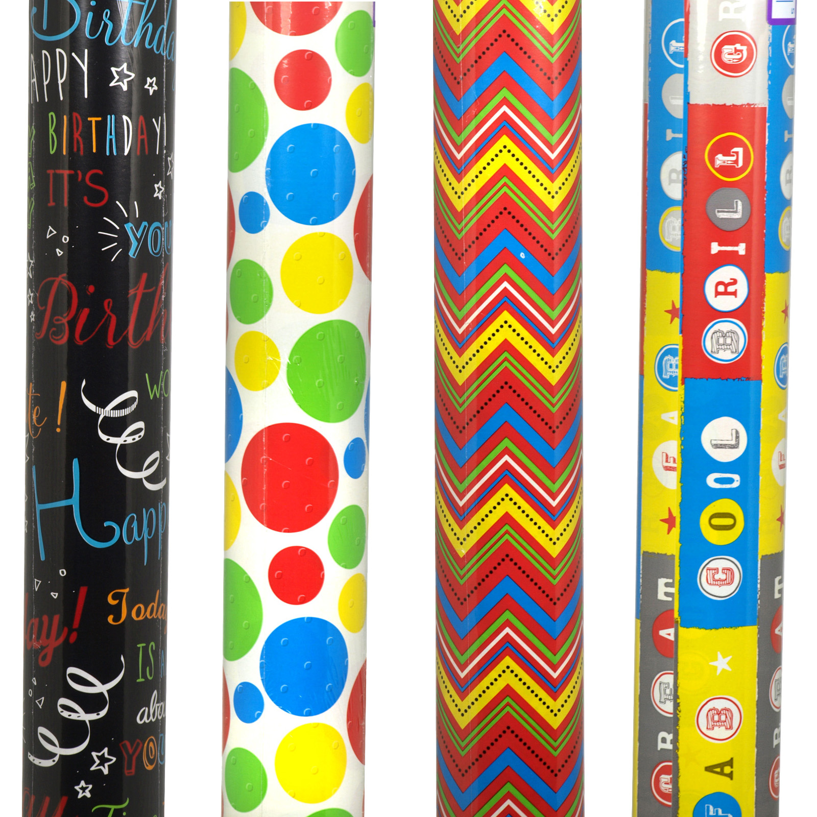 GIFT WRAP ROLLS 3M MIXED BRIGHTS X36