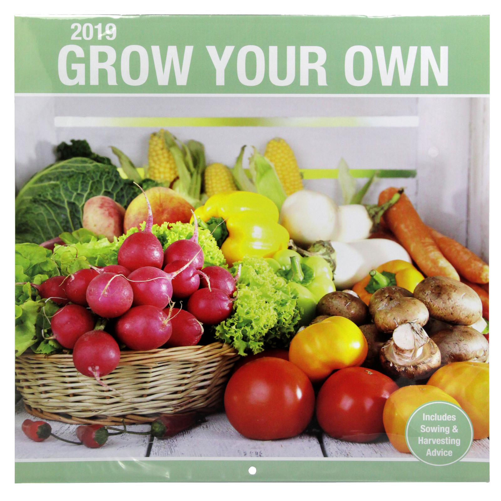 2019 SQUARE CALENDARS GROW YOUR OWN+HOME BAKING X30