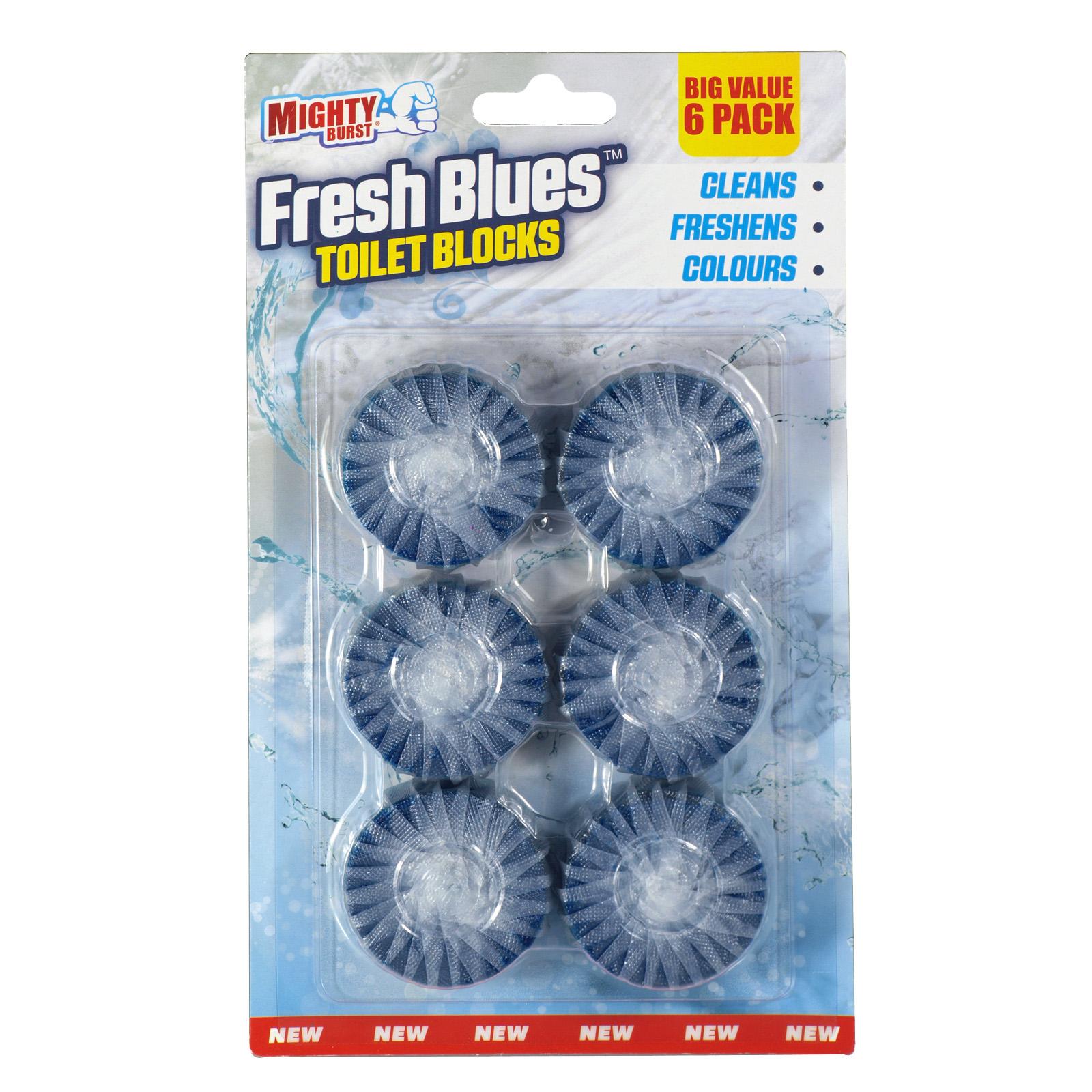MIGHTY BURST 6X50G TOILET BLOCKS BLUE X12