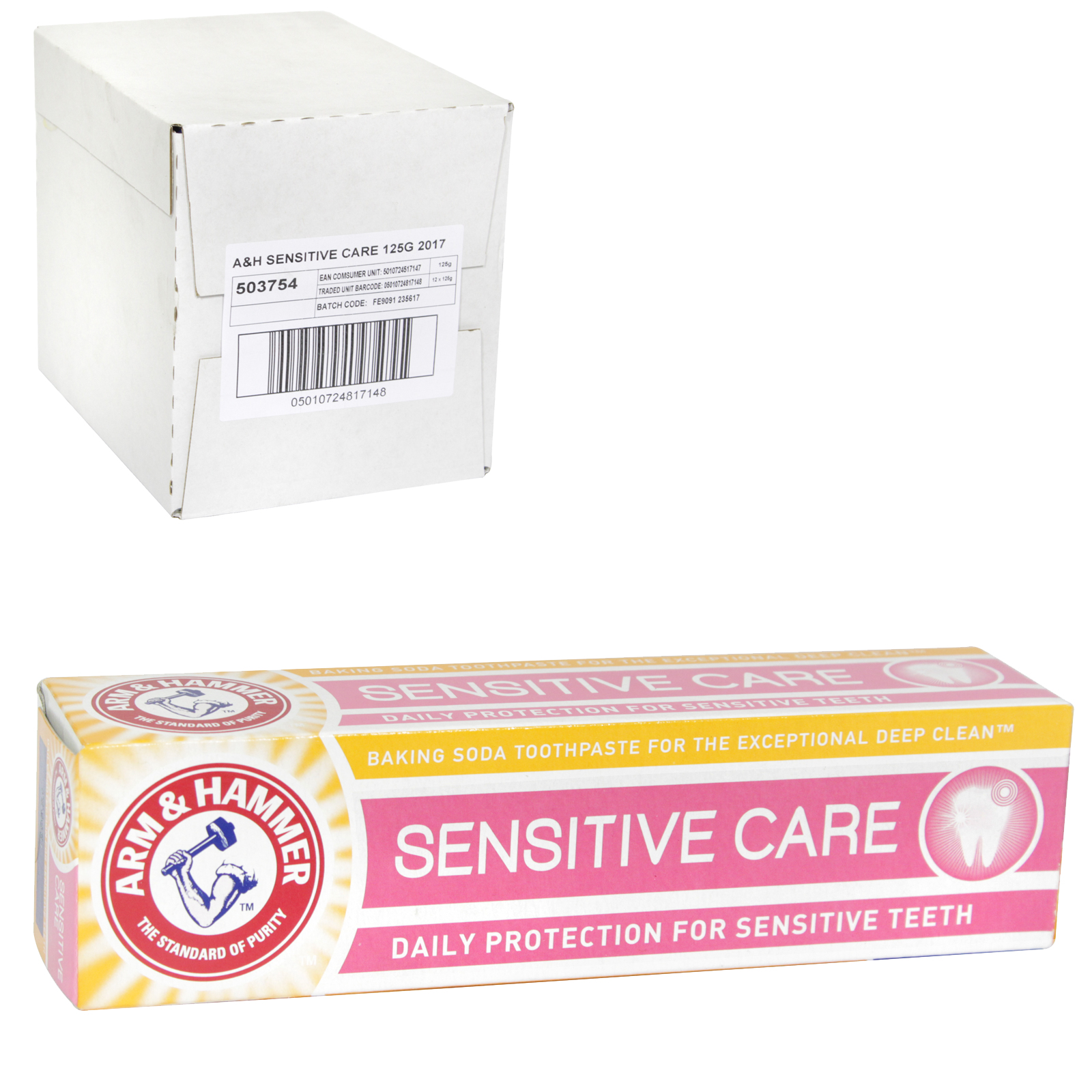 ARM & HAMMER TOOTHPASTE 125G SENSITIVE CARE X12