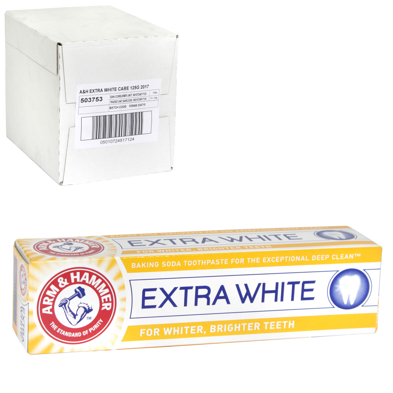 ARM+HAMMER TOOTHPASTE 125G EXTRA WHITE CARE X12