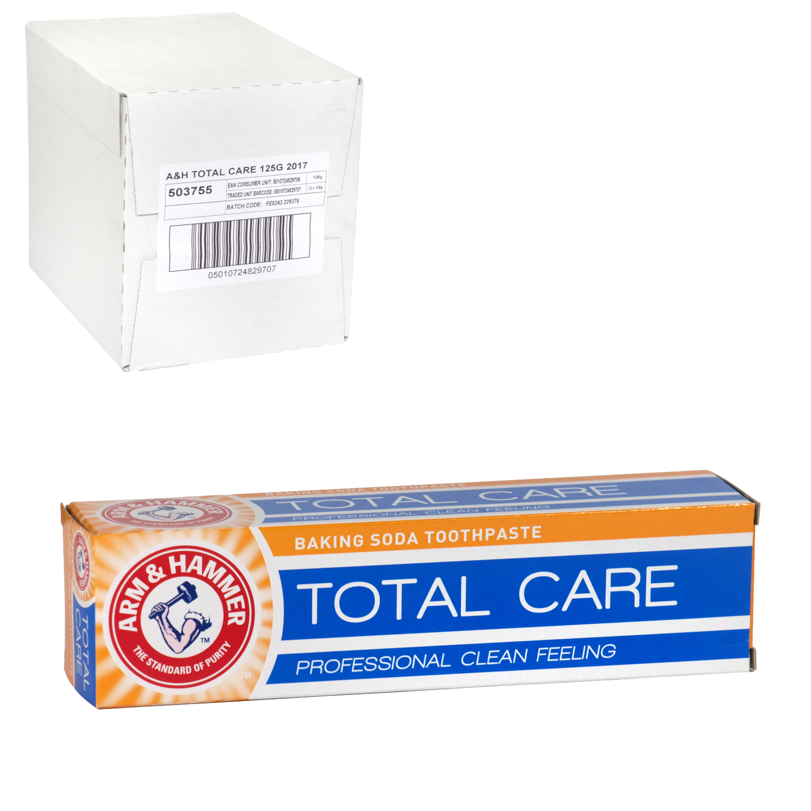 ARM & HAMMER TOOTHPASTE 125G TOTAL CARE-CLEAN X12