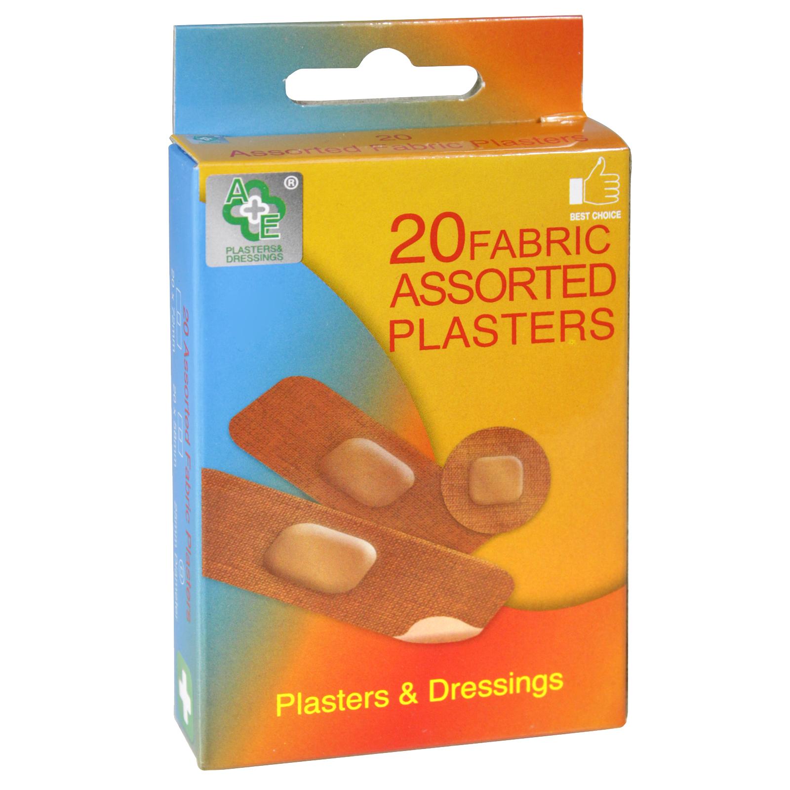 A+E PLASTERS 20S ASS FABRIC X24
