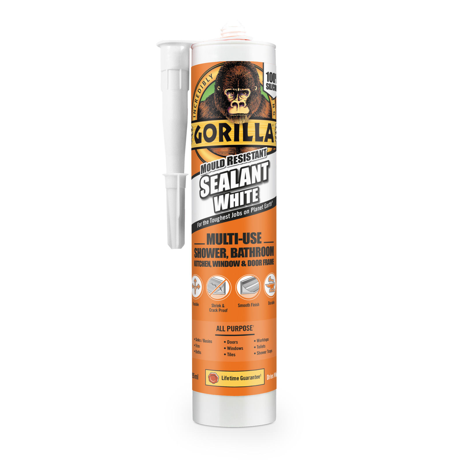 GORILLA SEALANT 295ML CART WHITE