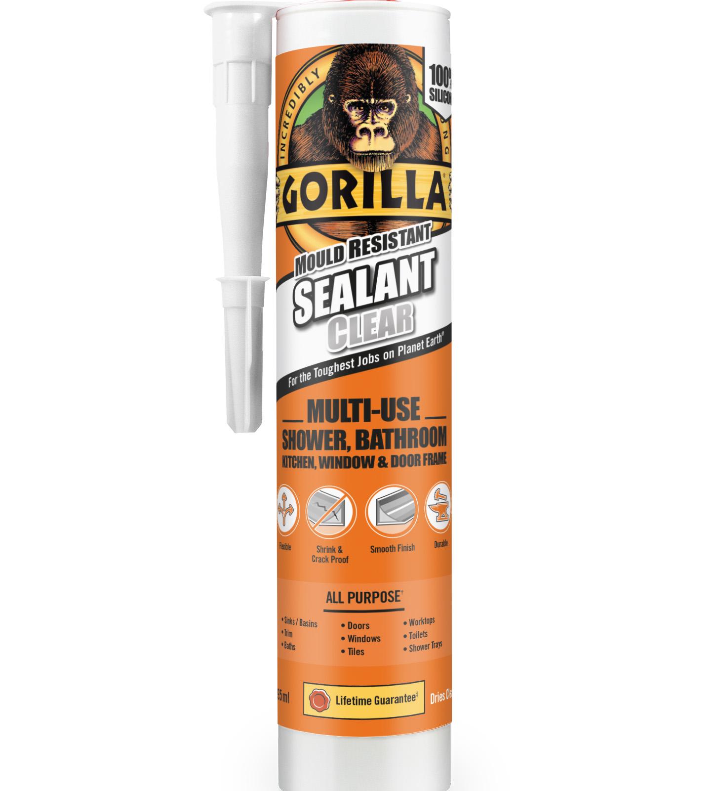 GORILLA SEALANT 295ML CART CLEAR
