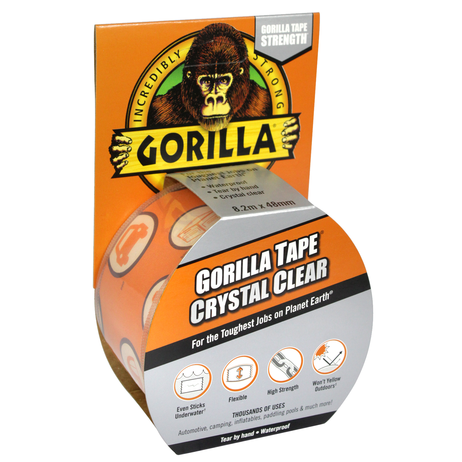 GORILLA TAPE 8.2M CRYSTAL CLEAR