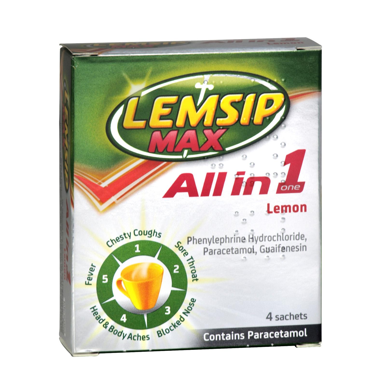 LEMSIP MAX ALL-IN-ONE 4 SACHETS LEMON X6