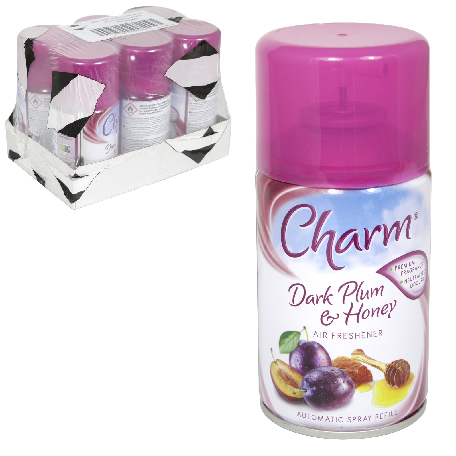 CHARM 250ML REFILL DARK PLUM+HONEY X6