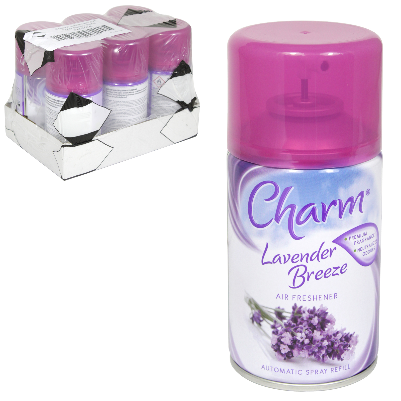 CHARM 250ML REFILL LAVENDER BREEZE X6